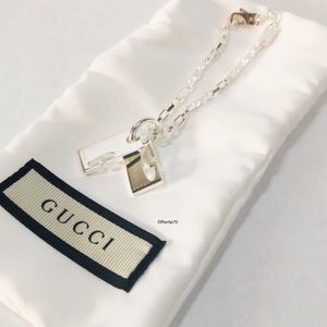 New Authentic Gucci Double G Tag Bracelet Size 7""